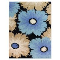 Amer Rugs Bombay Floral 7'6 x 9'6 Hand-Tufted Area Rug in Ebony