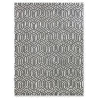 "Amer City Geometric 7'6"" x 9'6"" Hand Tufted Area Rug in Grey"