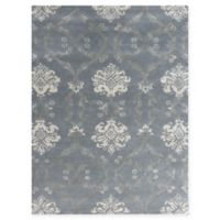 Amer Rugs Serendipity Damask 5' x 8' Area Rug in Blue