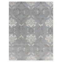 Amer Rugs Serendipity Damask 5' x 8' Area Rug in White