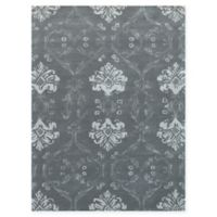 Amer Rugs Serendipity Damask 7'6 x 9'6 Area Rug in Silver