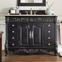 James Martin Furniture Monte Carlo 48-Inch Single Vanity in Empire Black