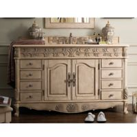 James Martin Furniture St. James 60-Inch Single Vanity in Empire Linen