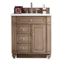 James Martin Furniture Bristol 30-Inch Single Vanity in Whitewashed Walnut