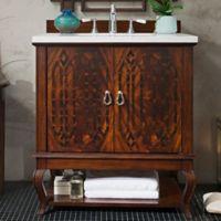 James Martin Furniture Palm Beach 31-Inch Single Vanity in Dark Amber