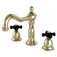 Kingston Brass Duchess 2-Handle Widespread Lavatory Faucet with Brass Pop-Up in Polished Brass