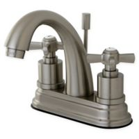 Kingston Brass Bel Air 2-Handle 4-Inch Centerset Lavatory Faucet with Brass Pop Up in Satin Nickel