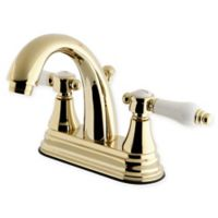 Kingston Brass 2-Handle 4-Inch Centerset Lavatory Faucet in Polished Brass