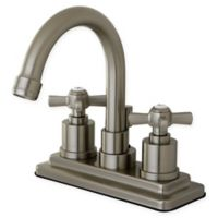 Kingston Brass 2-Handle 4-Inch Centerset Lavatory Faucet in Satin Nickel