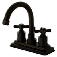 Kingston Brass 2-Handle 4-Inch Centerset Lavatory Faucet in Oil Rubbed Bronze