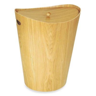 buy wood laundry hamper from bed bath beyond. Black Bedroom Furniture Sets. Home Design Ideas