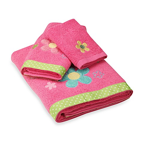 Dancing Flowers Hand Towel