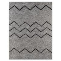 Amer Rugs Bryant 2' x 3' Shag Accent Rug in Oyster