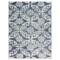 Amer Rugs Kanoka 7'6 x 9'6 Geometric Floral Hand-Tufted Area Rug in Blue