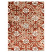 Amer Rugs Kanoka 7'6 x 9'6 Geometric Floral Hand-Tufted Area Rug in Red