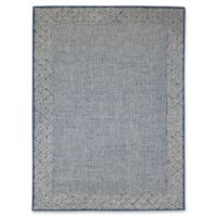 Amer Modern Calvin Diamond Hand-Tufted 2' x 3' Accent Rug in Blue