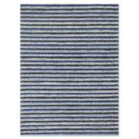 Rugs America Hudson Stripes 7'6 x 9'6 Area Rug in Blue