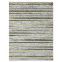 Rugs America Hudson Stripes 7'6 x 9'6 Area Rug in Gold
