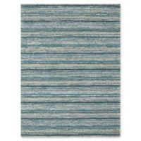 Rugs America Hudson Stripes 7'6 x 9'6 Area Rug in Teal