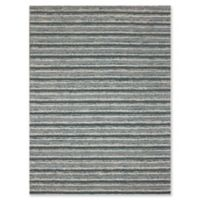 Rugs America Hudson Stripes 8' x 11' Area Rug in Teal