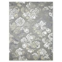 Amer Rugs Kanoka 7'6 x 9'6 Floral Hand-Tufted Area Rug in Silver