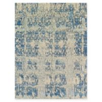 Amer Synergy Abstract 2' x 3' Accent Rug in Aqua