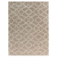 Amer City Rounded Trellis 2' x 3' Hand Tufted Accent Rug in Beige