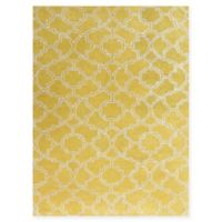 Amer City Rounded Trellis 5' x 8' Hand Tufted Area Rug in Yellow