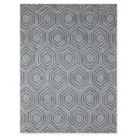 Amer Rugs Dwell Hexagon 5' x 8' Area Rug in Blue