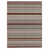 Amer Rugs Elana Striped 4' x 6' Area Rug in Grey