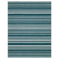 Amer Rugs Elana Striped 4' x 6' Area Rug in Teal