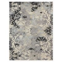 Amer Rugs Kanoka 2' x 3' Scroll Hand-Tufted Accent Rug in Silver