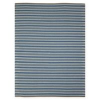 Amer Rugs Paramount Striped 7'6 x 9'6 Rug in Blue