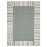 Amer Rugs Piazza Traditional Multi-Purpose 5' x 7'6 Area Rug in Silver