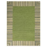 Amer Rugs Piazza Traditional Multi-Purpose 7'6 x 9'6 Area Rug in Green