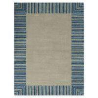 Amer Rugs Piazza Traditional Multi-Purpose 7'6 x 9'6 Area Rug in Blue