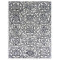 Amer Rugs Serendipity Regal Damask 7'6 x 9'6 Area Rug in Blue