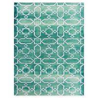 Amer Shibori Tie-Dye 2' x 3' Accent Rug in Blue