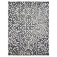 Amer Shibori Tie-Dye Vine 2' x 3' Accent Rug in Grey