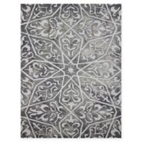 Amer Shibori Tie-Dye Vine 5' x 8' Area Rug in Grey