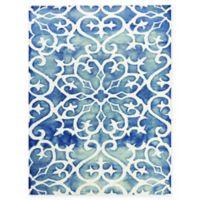 Amer Shibori Tie-Dye Vine 7'6 x 9'6 Area Rug in Blue