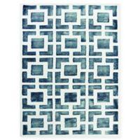 Amer Shibori Tie-Dye Geometric 8' x 11' Area Rug in Grey