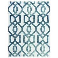Amer Shibori Tie-Dye Links 7'6 x 9'6 Area Rug in White