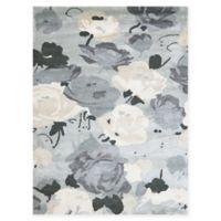 Amer Shimmer Floral 5' x 7'6 Area Rug in Grey