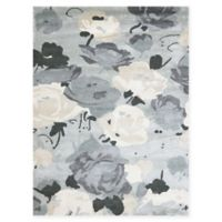 Amer Shimmer Floral 7'6 x 9'6 Area Rug in Grey
