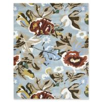 Amer Shimmer Floral 2' x 3' Accent Rug in Aqua