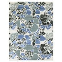 Amer Shimmer Floral Spray 8' x 11' Area Rug in Blue