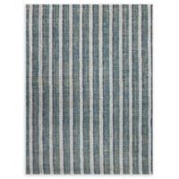 Amer Rugs Tropics Striped Hand-Woven 2'3 x 8' Rug in Teal