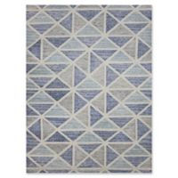 Amer Rugs Vector Modern Hand-Tufted 2' x 3' Rug in Blue/Grey