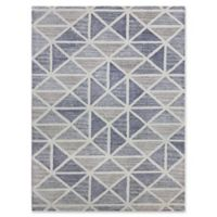 Amer Rugs Vector Modern Hand-Tufted 7'6 x 9'6 Rug in Blue/Beige